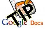 Google Docs TIP