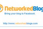 Using NetworkedBlogs on Facebook