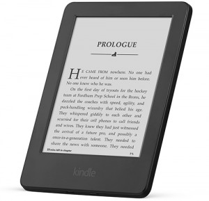 Picture of a basic Kindle reader.